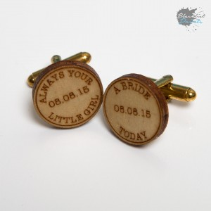 Blacklist Prints-Personalised Wedding Cufflinks Wood