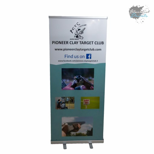 Blacklist Prints-Mackay Sports Club Pull up Banner