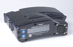 Personal dust monitor that measures levels of respirable coal dust. Source: www.rtpcompany.com