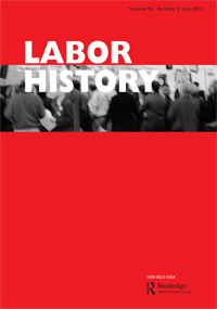 "Cover of ""Labor History"" Journal"