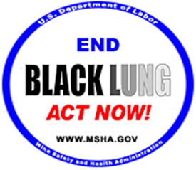"Image for MSHA's ""End Black Lung Act Now!"" Campaign"