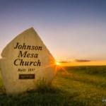 johnson mesa church sign