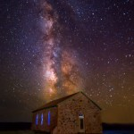 Johnson Mesa Church Milky Way