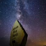 Johnson Mesa Sign Milky Way