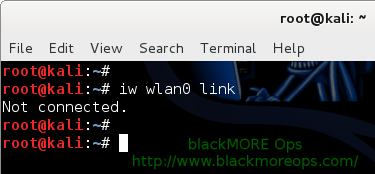 Connect to WiFi network in Linux from command line - Check device connection - blackMORE Ops-4