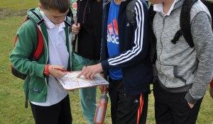 school group orienteering