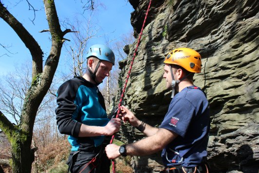 rock climbing and abseiling photo