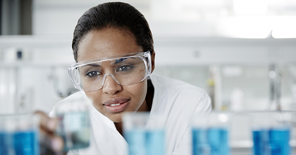 Black female scientist