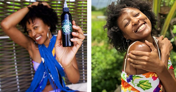 Love Atiya, founder of vegan hair and skincare product line