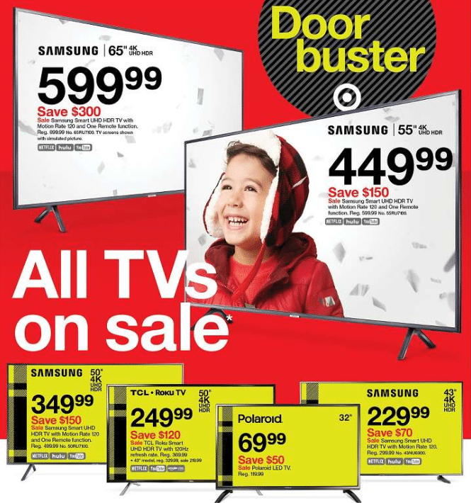 black friday tv deals 2020 from 69 99