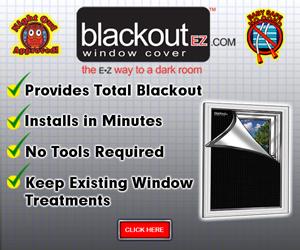 Blackout EZ Window Cover Banner 300 x 250
