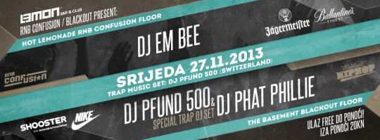 Trapped with DJ Pfund 500 @ Lemon, Zagreb (27.11.)