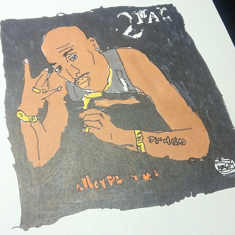 2pac drawing