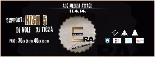 Cobran & Mlata, Sick Touch & High5 Live @ AKC Medika, Attack (11.04.)