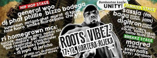 RootS ViBeZ 3 @ Hartera, Rijeka (17.10.)