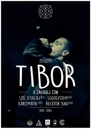 Tibor & Žaegulj Zim, Loš Utjecaj, i dr. Live @ Club Exit, Osijek (20. 2.)