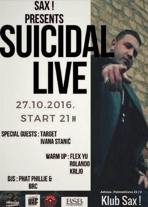 Suicidal Live @ Sax, Zagreb (27. 10.)