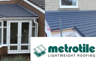 Conservatory Roof Conversions By Blackpool Industrial Roofing. Distributors of Metrotile Lightweight Roofing Tiles