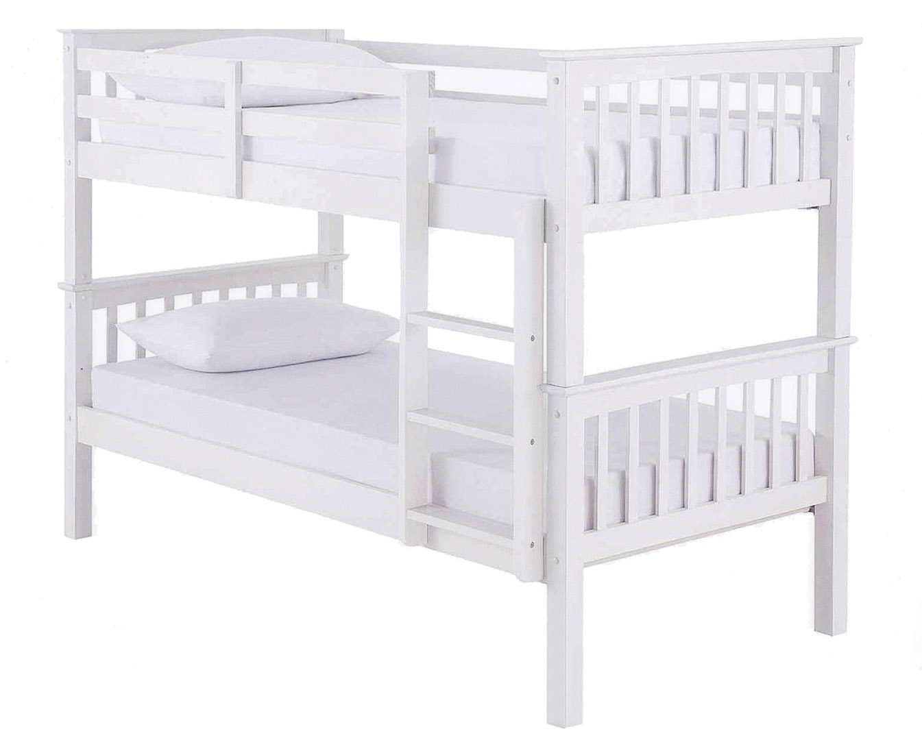White Wood Bunk Beds Frame Blackpool Bed Centre