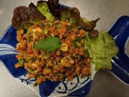 ก้อยปลาแชลมอน Salmon salad Thai style