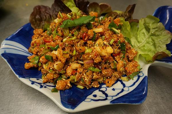 Salmon salad Thai style