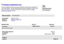 HMRC Tax Return Notification