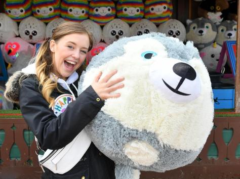 Coronation Street actress Harriet Bibby ,who plays Summer Spellman in the iconic Soap, celebrates her birthday at Blackpool Pleasure Beach during the park's 125th celebration season Pictures: Dave Nelson