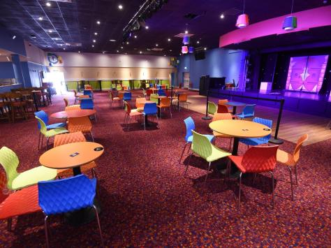 Entertainment lounges have been laid out to accommodate social distancing. Picture: Daniel Martino/JPI Media
