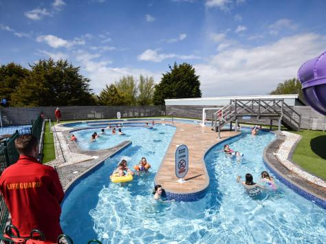 Families have been enjoying using the outdoor pools since Haven sites reopened in April. Picture: Daniel Martino/JPI Media