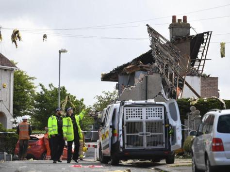 """Residents in Heysham described the noise of the blast as """"like a bomb going off"""" with debris that covered nearby streets and fields."""