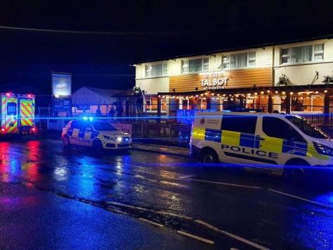 Police say around 80 people were involved in a drunken brawl at the Talbot pub in Balshaw Lane, Euxton at around 10.30pm on Saturday (May 15)