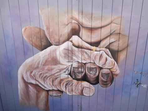 """The mural represents """"hope and togetherness"""" during the pandemic. Picture: Daniel Martino/JPI Media"""
