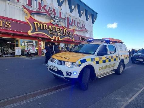 The coastguard at Central Pier