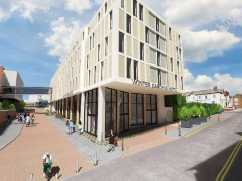 Artist's impression of the proposed hotel
