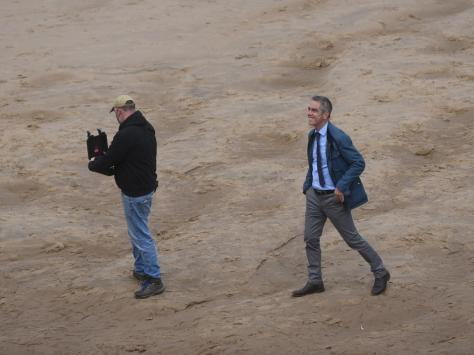 Cold Feet star James Nesbitt was spotted filming climactic scenes for anew 8-part Netflix thriller,Stay Close, on the beach near Central Pier today (Wednesday, June 30)