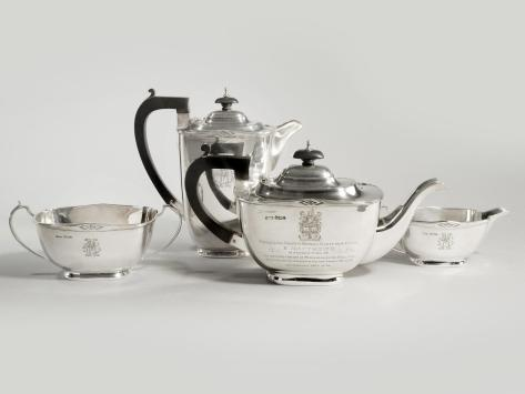 The silver tea service presented to Sir Stanley Matthews is to be auctioned off