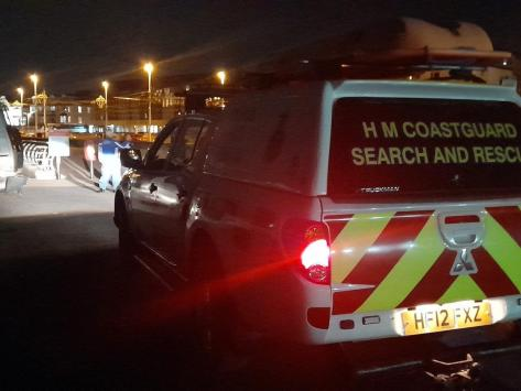 The Coastguard in attendance at the South Pier incident