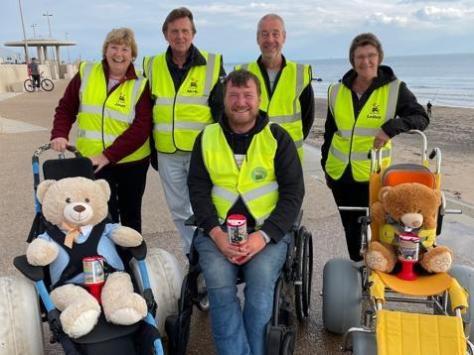 Fleetwood Beach Wheelchairs' volunteers