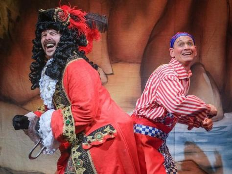 Tom Lister and Steve Royle in panto at Blackpool's Grand Theatre