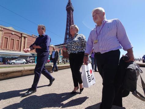 Labour leader Keir Starmer during his visit to Blackpool