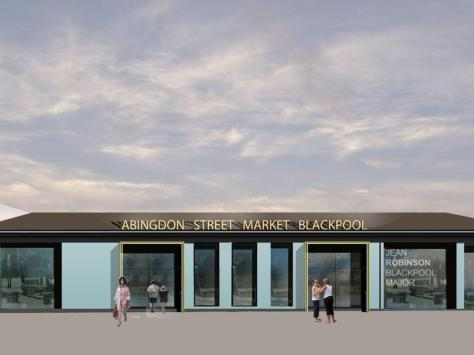 Image showing what the new Cedar Square entrance to the market will look like