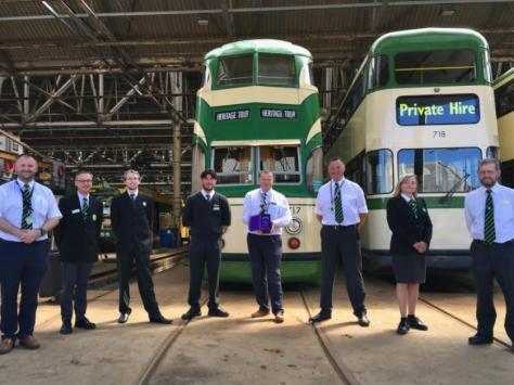 Blackpool Heritage Tram Volunteers with the award