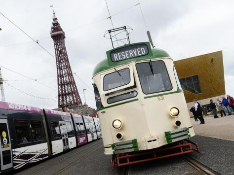The tram is now back in service on the heritage line