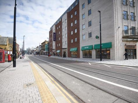 It is part of the multi-million pound tram link project linking the Promenade to a new tram station by Blackpool North railway station