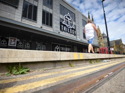 The council said it has had no reports of anyone falling off the kerb
