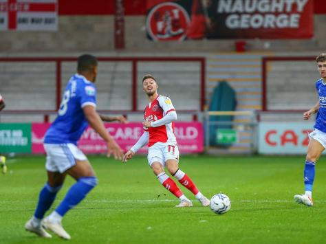 Anthony Pilkington's cool-headed play was a positive influence for Fleetwood's youngsters