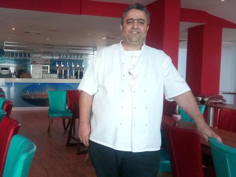 Veli Kirk in his St Annes restaurant