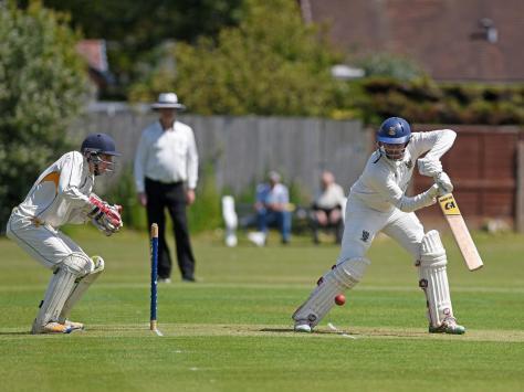 Fleetwood CC skipper Adam Sharrocks (batting)
