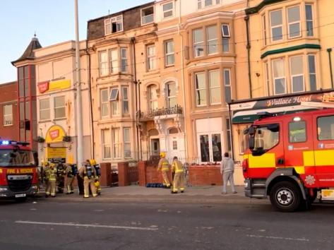 Six engines attended and firefighters were seen entering the building wearing breathing apparatus to shield them from the smoke. Pic: Mark Harper