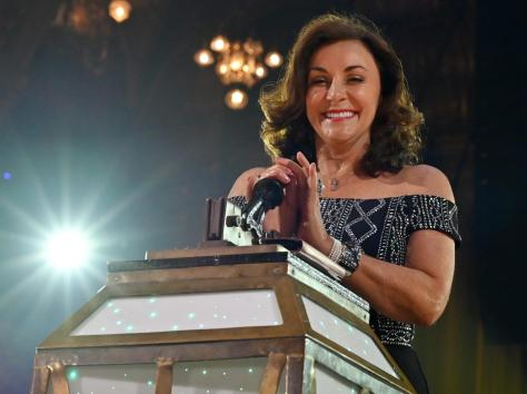 The Queen of Latin and Strictly Come Dancing head judge Shirley Ballas, who found success in Blackpool as a young dancer in the '80s, flicked the switch on the Illuminations on the evening of Friday, September 3, 2021 inside the Tower Ballroom (Picture: Darren Nelson)
